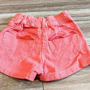 Mini Boden Bottoms - Mini Boden Red Heart Pocket Jean Shorts Size 18M